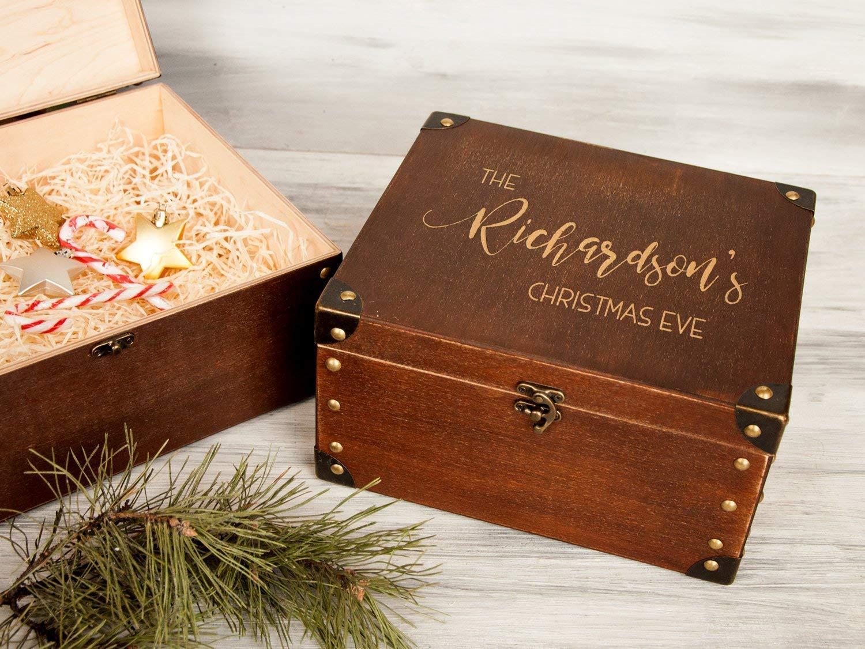 Large White Keepsake Memory Box Christmas Eve Birthdays Weddings New Baby