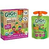 GoGo squeeZ Organic fruit & veggieZ, Apple Mixed Berry Carrot, 3.2 Ounce (4 Pouches), Gluten Free, Vegan Friendly…