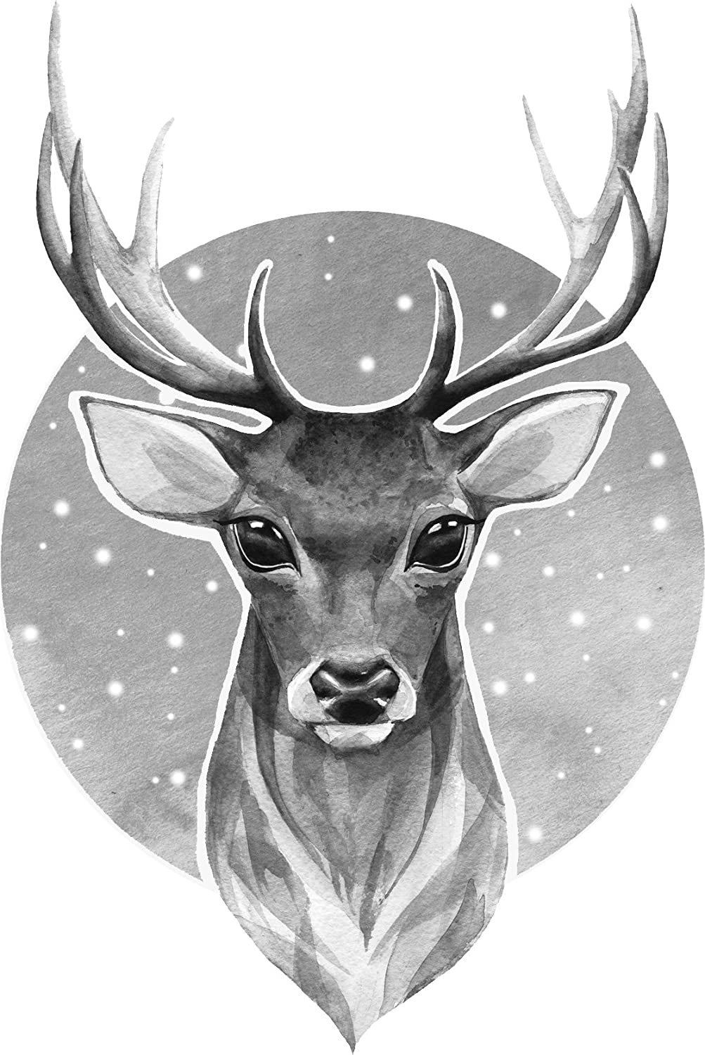 Amazon com pretty pencil sketch deer buck cartoon vinyl decal