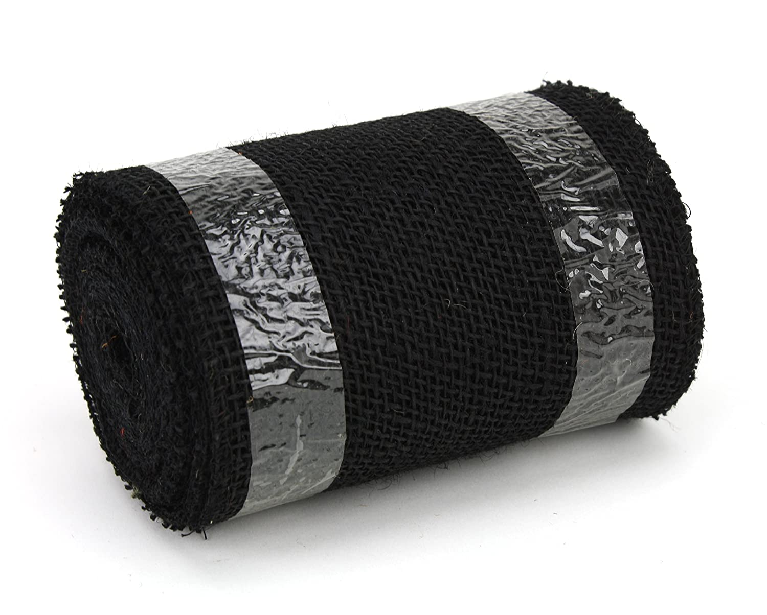 Kel-Toy Jute Burlap Ribbon Black 6 by 10 yd