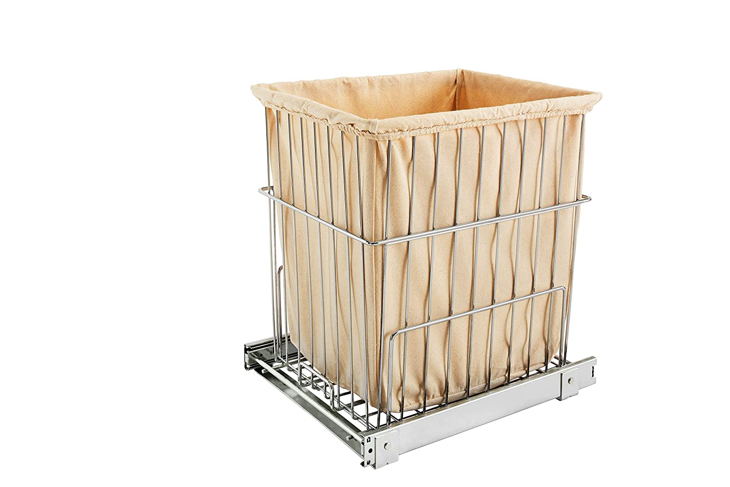 Rev-A-Shelf Pullout Wire Hamper, Chrome