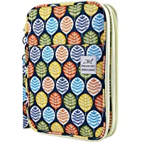YOUSHARES 192 Slots Colored Pencil Case, Large Capacity Pencil Holder Pen Organizer Bag with Zipper for Prismacolor Watercolor Coloring Pencils, Gel Pens for Student & Artist (Colorful Leaves)