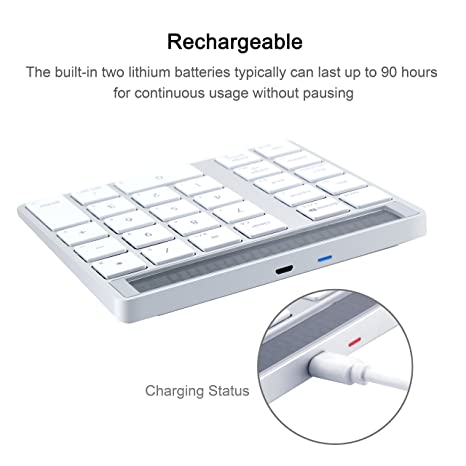 Amazon.com: Alcey Bluetooth Wireless Magic Keypad & Calculator Combo with 6-Month Rechargeable Lithium Battery for Apple Wireless Keyboard: Computers & ...