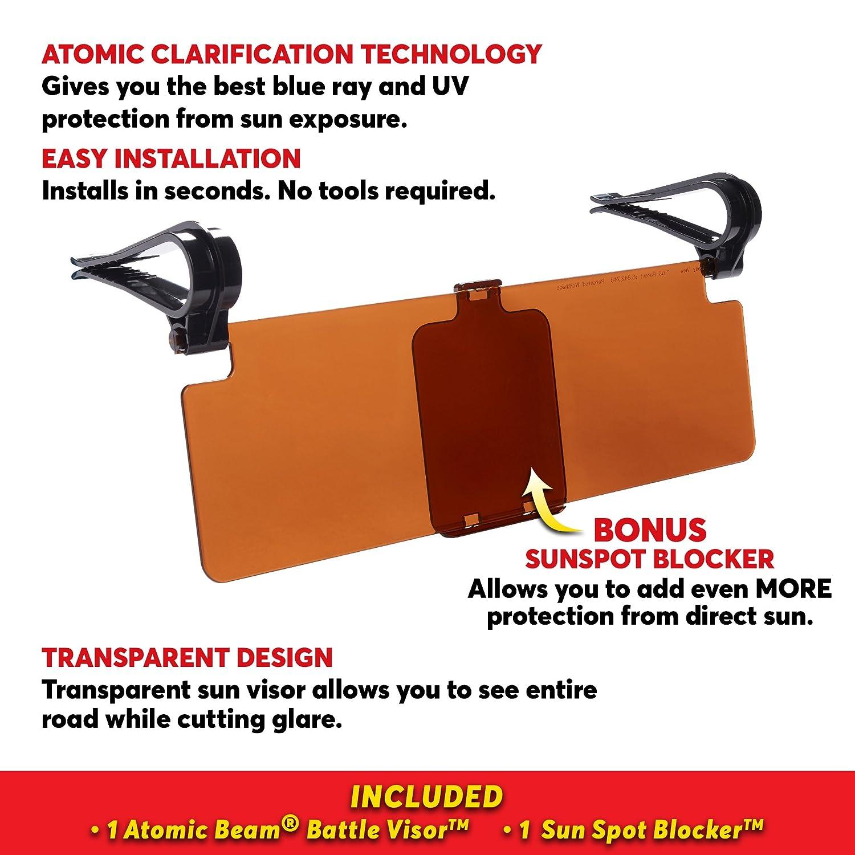 Amazon.com  Atomic Beam Battle Visor Transparent Anti-Glare Sun Visor by  BulbHead f6776689661