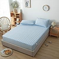 HAIBA Waterdichte en ademende matrasbeschermer (blauw, 90x200cm +30cm)