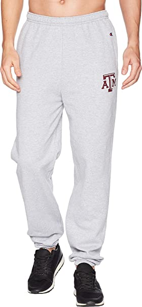 e14d91d7507ed Champion College Men s Texas A M Aggies Eco Powerblend Banded Pants Heather  Grey ...