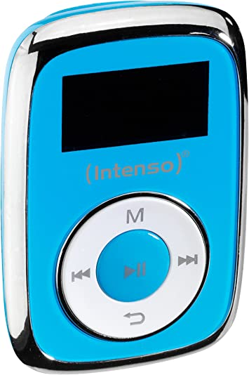 Intenso Music Mover MP3 8GB - Reproductor MP3 (Reproductor de MP3, 8 GB, LCD, USB 2.0, Azul, Auriculares incluidos)