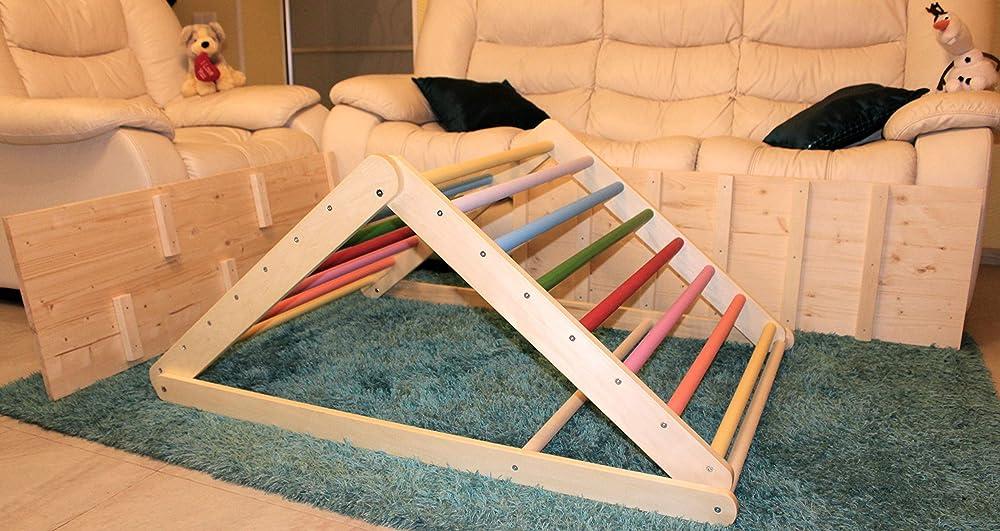 Triangle de marche Vous pouvez choisir un triangle sans ou avec une ou deux rampes /échelle descalade pour tout-petits Triangle descalade pour tout-petits Triangle de Pikler