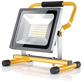 Brandson Proyector de luz de batería LED de 30 W con reflector ...