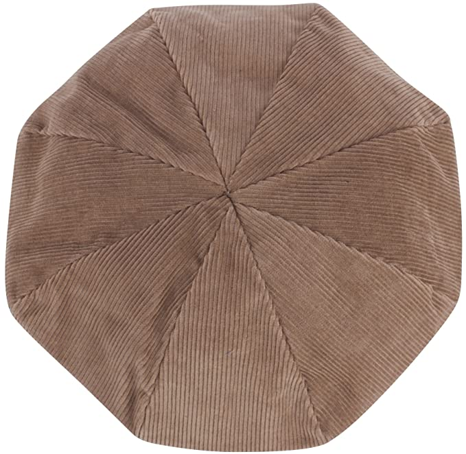 Amazon.com  RaOn N353 Watch Cap Corduroy Docker Hat Short Beanie Skully  Driving Flat Golf Sports (Brown)  Clothing 59a9b358e41