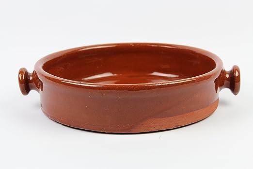 Cazuela de barro, hecha a mano tradicionalmente. Medidas ...