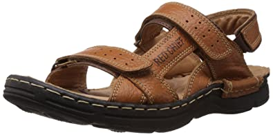 b523f03f9 Red Chief Men s Elephant Tan Leather Sandals and Floaters - 7 UK (RC0570 ...