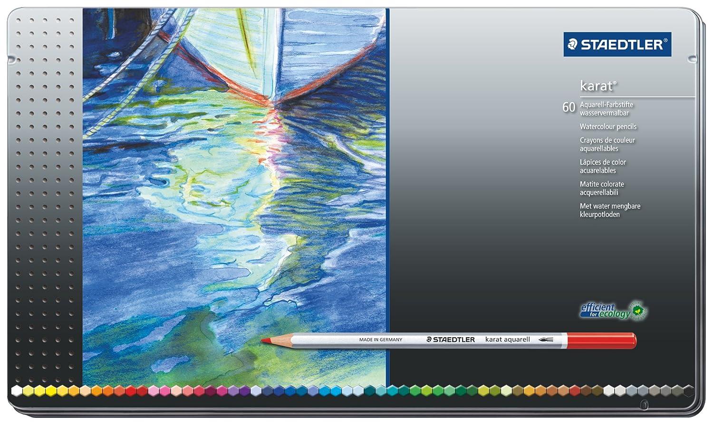 Staedtler Karat Aquarell Premium Watercolor Pencils, Set of 60 Colors (125M60) Staedtler Inc.