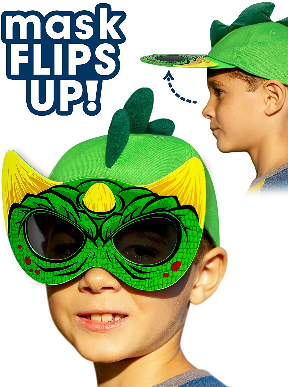 Amazon Com Dinosaur Hat With Flip Down Sunglasses Girls And
