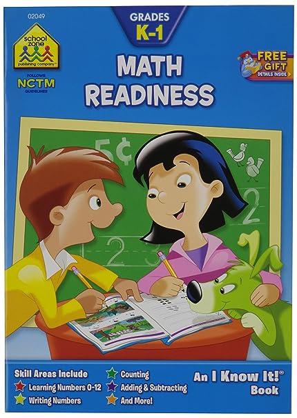 Amazon.com: School Zone Curriculum Workbooks 32 Pages-Math Readiness ...