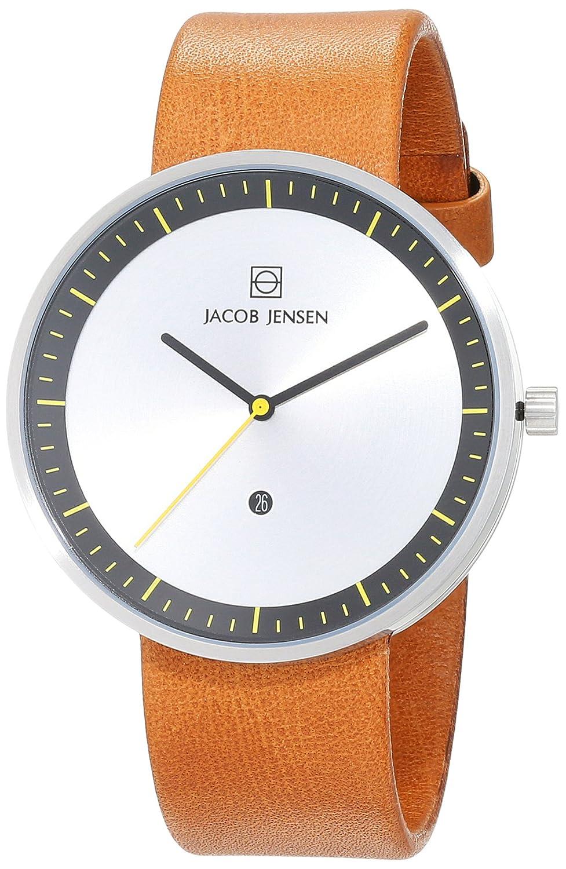 Jacob Jensen Herren-Armbanduhr Analog Quarz Leder 32271
