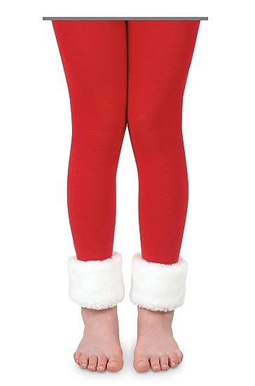 29ce7db8299 Amazon.com  Jefferies Socks Girls Fur Red White Costume Dress Up ...