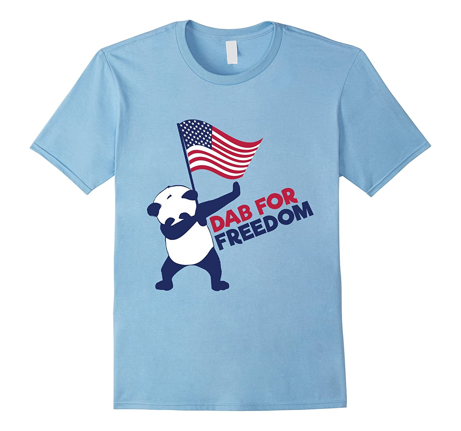 Dab for Freedom - 4th of July Panda Dabbing T-shirt-PL