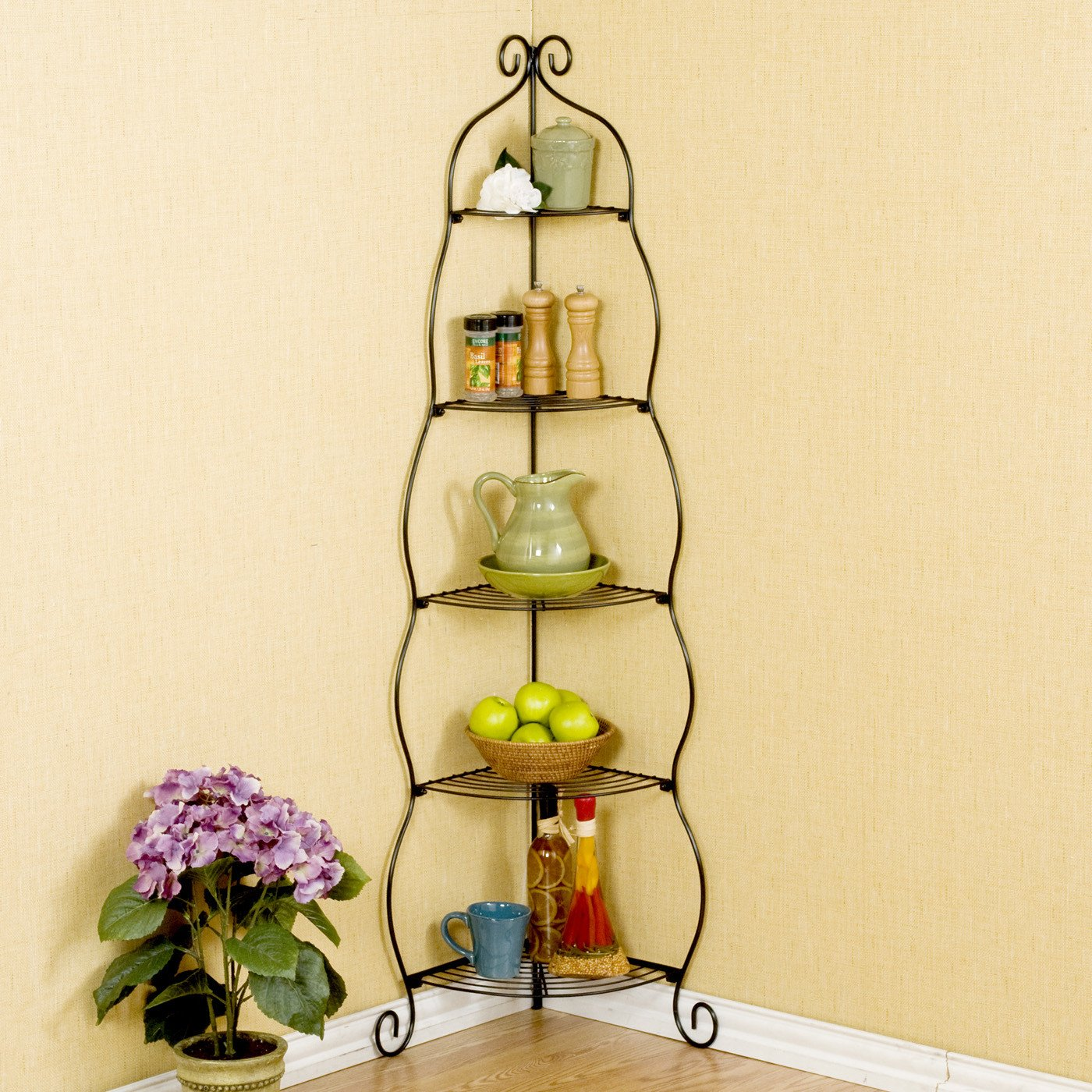 Amazon.com - Melisse Corner Baker\'s Rack by Lark Manor - Corner ...