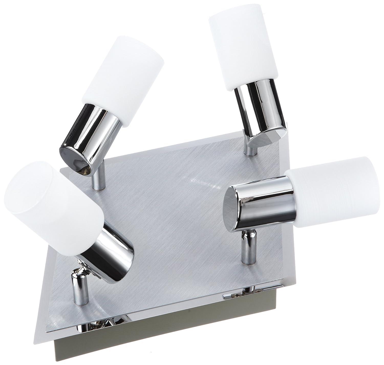 Trio-Leuchten LED-Balken Aluminium gebürstet/chrom, Glas weiß ...