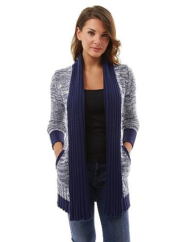 PattyBoutik Mujer marled chaqueta de punto sweatercoat