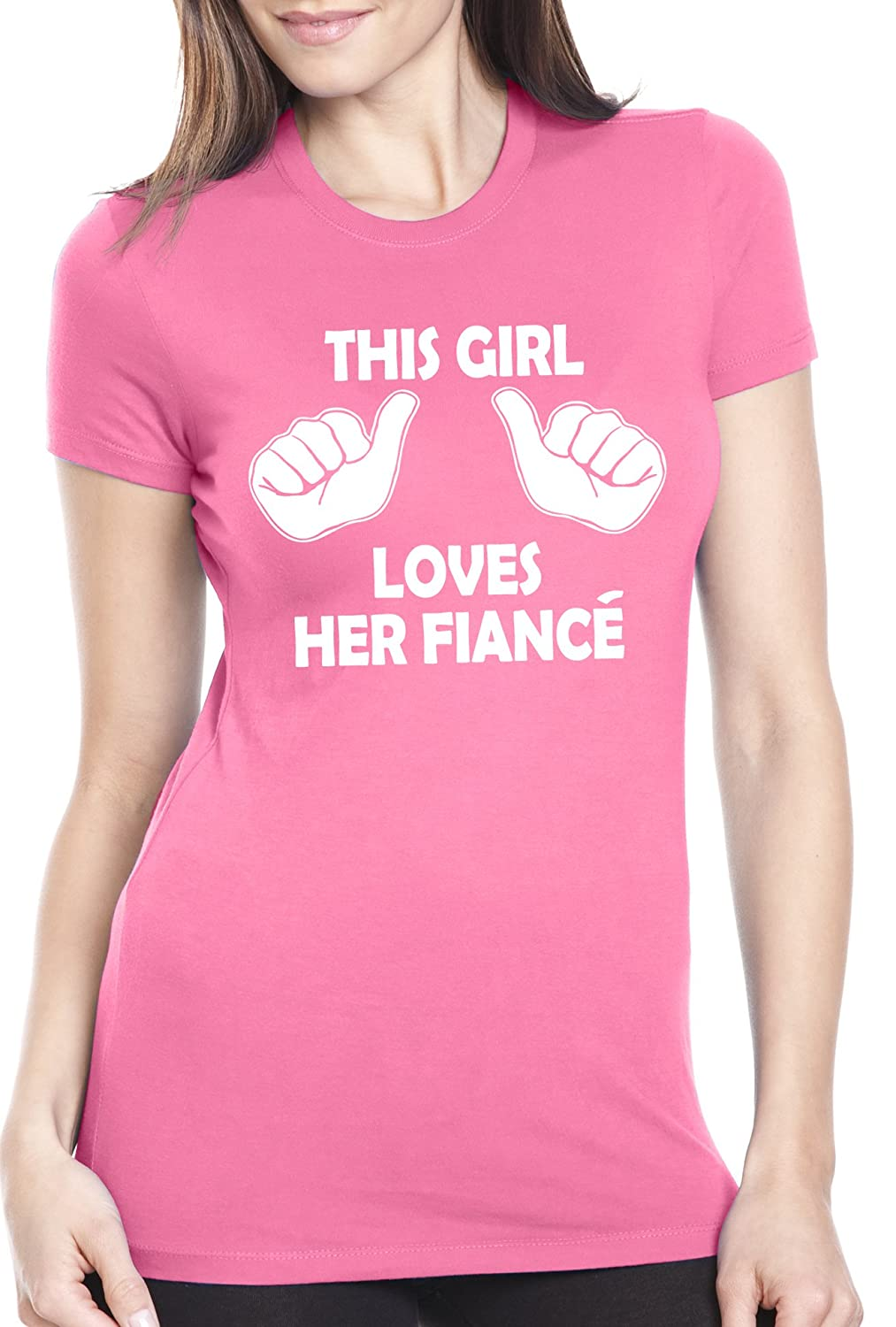 Amazon.com: This Girl Loves Her Fiance T-Shirt Funny Women's ...