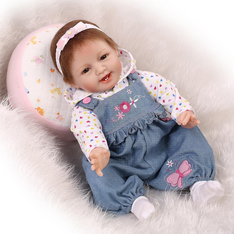 NPK Collection Reborn Baby Doll Soft Silicone 22inch 55cm neugeborenes baby doll lebensecht vinyl - puppen cowboy - hose