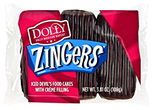 Dolly Madison Zingers, Devil's Food, 3 Cakes (Pack of 6)