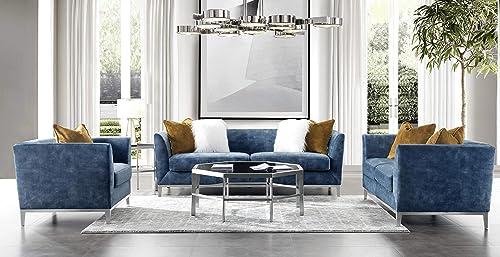 Acanva Luxury Mid-Century Modern Velvet Living Room Sofa