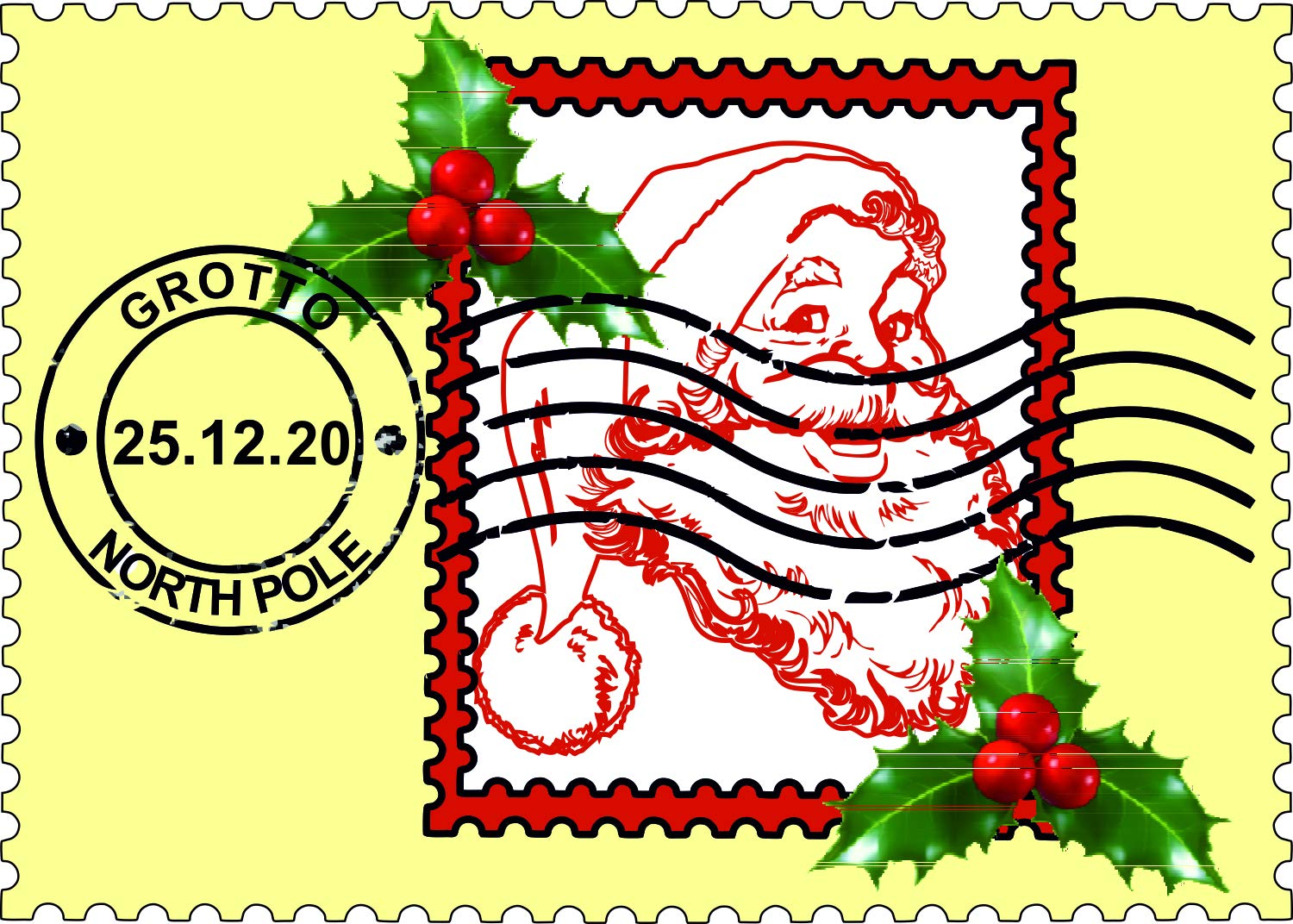 A4 Sheet A4 Sheet - 5cm x 5cm Stickers 15 x From Santa Stickers Christmas Toy Factory Gift Tag Kids #6602