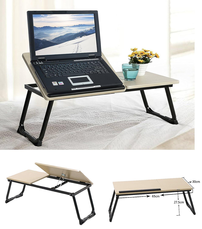 Tavolino portatile per laptop o notebook, pieghevole, con funzione vassoio e appoggio per fare colazione a letto UK Buy Zone