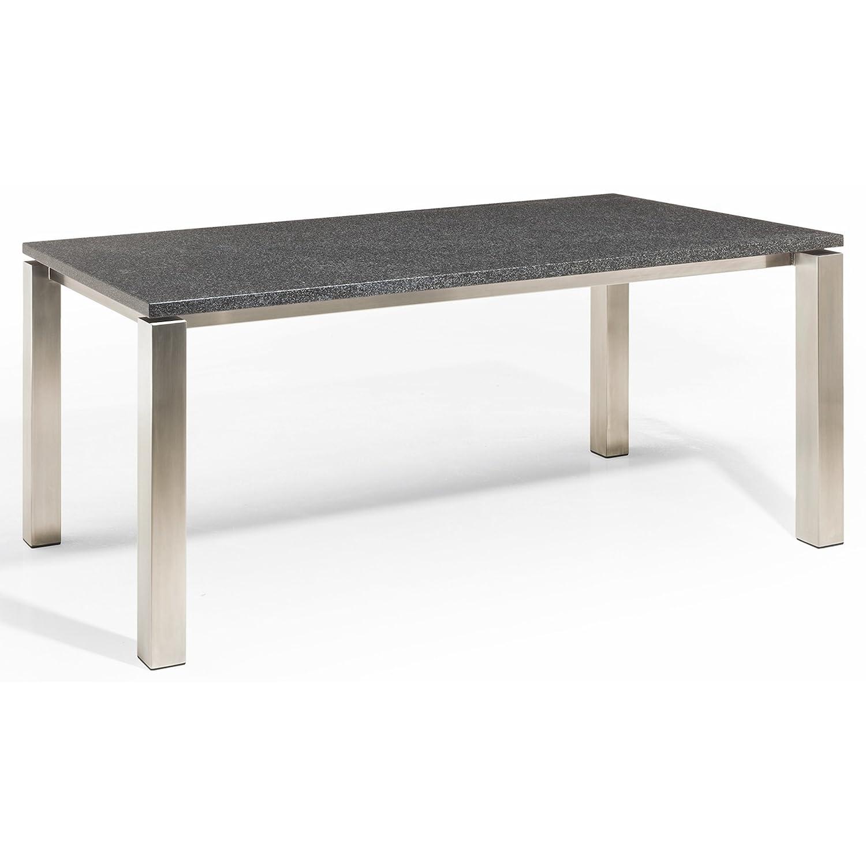 Studio 20 Stavanger Gartentisch 240 x 100 cm Outdoortisch Granittisch Edelstahl Tischplatte Coffee brown satiniert