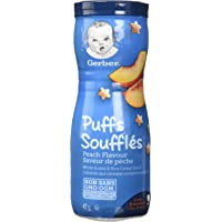 GERBER PUFFS, Peach, Baby Snacks, 6 x 42 g (Pack of 6)
