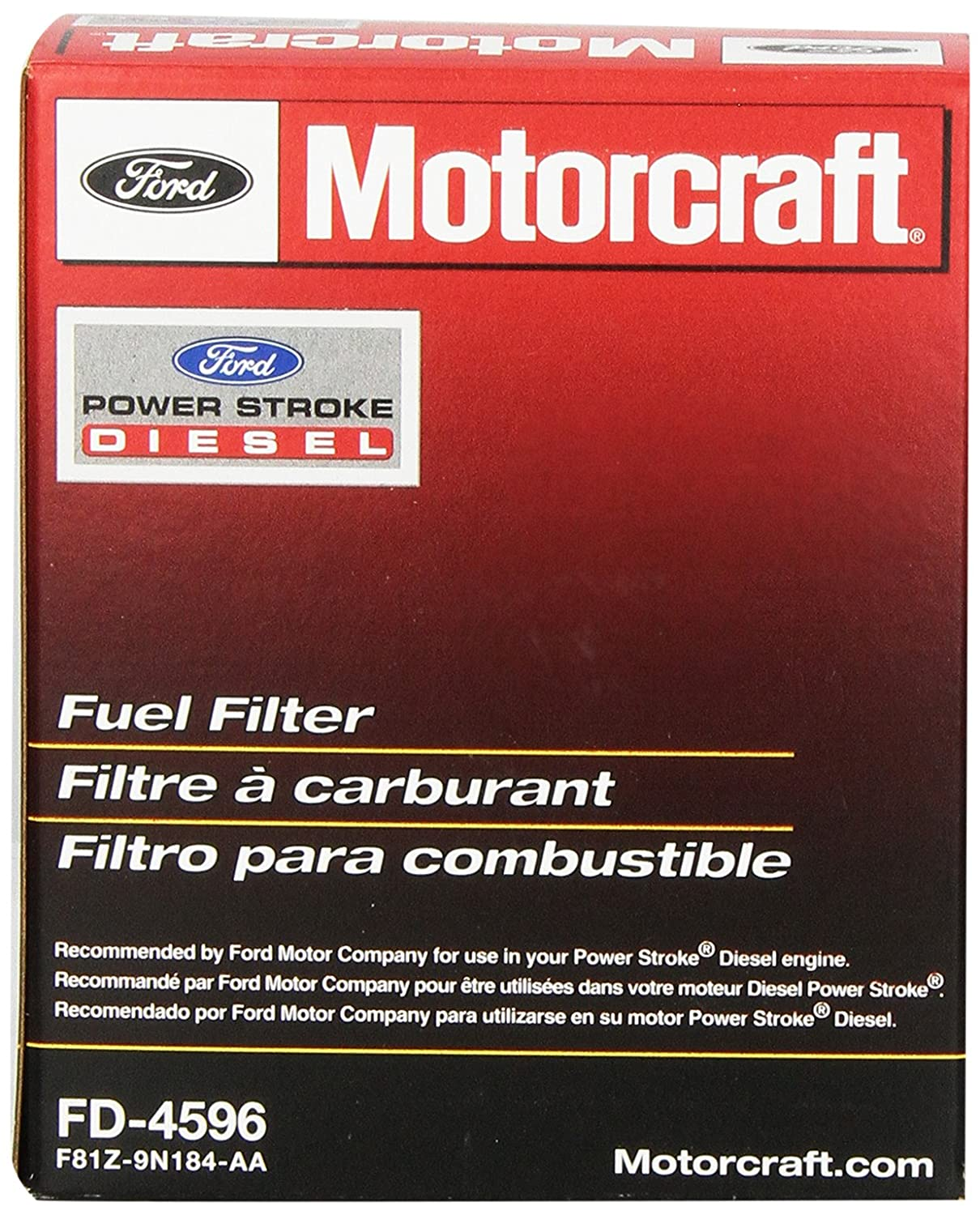 Motorcraft Fd 4596 Element Automotive 2001 Ford F550 Fuel Filter Location