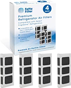 Fette Filter - Activated Carbon Refrigerator Air Filter Compatible with Paultra2 Ultra 2 Pure Air 2 Frigidaire and Electrolux Refrigerators Part #5303918847 (Pack of 4)