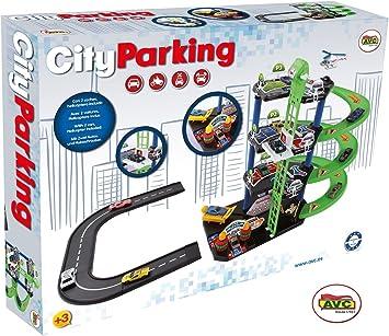 AVC- Parking City 2 Coches Caja 53x39cm, Multicolor (752): Amazon.es: Juguetes y juegos