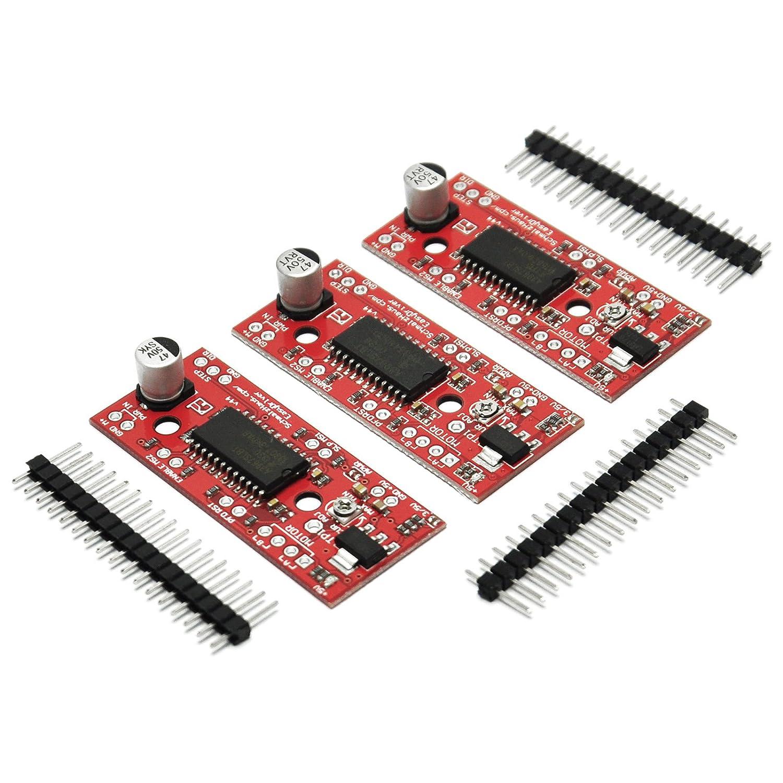 Gikfun EasyDriver Shield Stepper Motor Driver V44 A3967 for Arduino (Pack of 3PCS) EK1204x3U Esooho