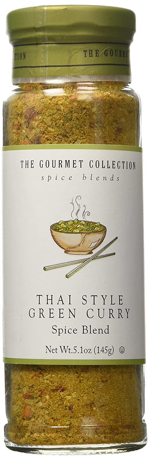 The Gourmet Collection Spice & Seasoning Blend, Thai Style Green Curry - Spicy & Sweet for Chicken, Vegetables, Fish: Grill Rub: 156 Servings.