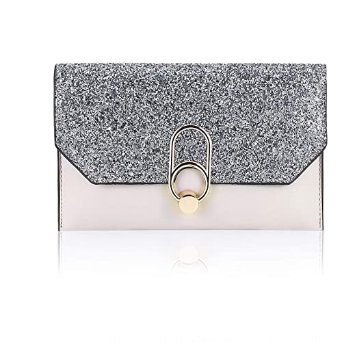7742fff539 GGBAZZARA Women's Glitter Sequins Clutch Envelope Purse Handbag Evening Bag  with Detachable Chain for Cocktail Party