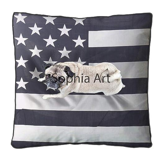 Funda de almohada para suelo, diseño vintage de bandera ...
