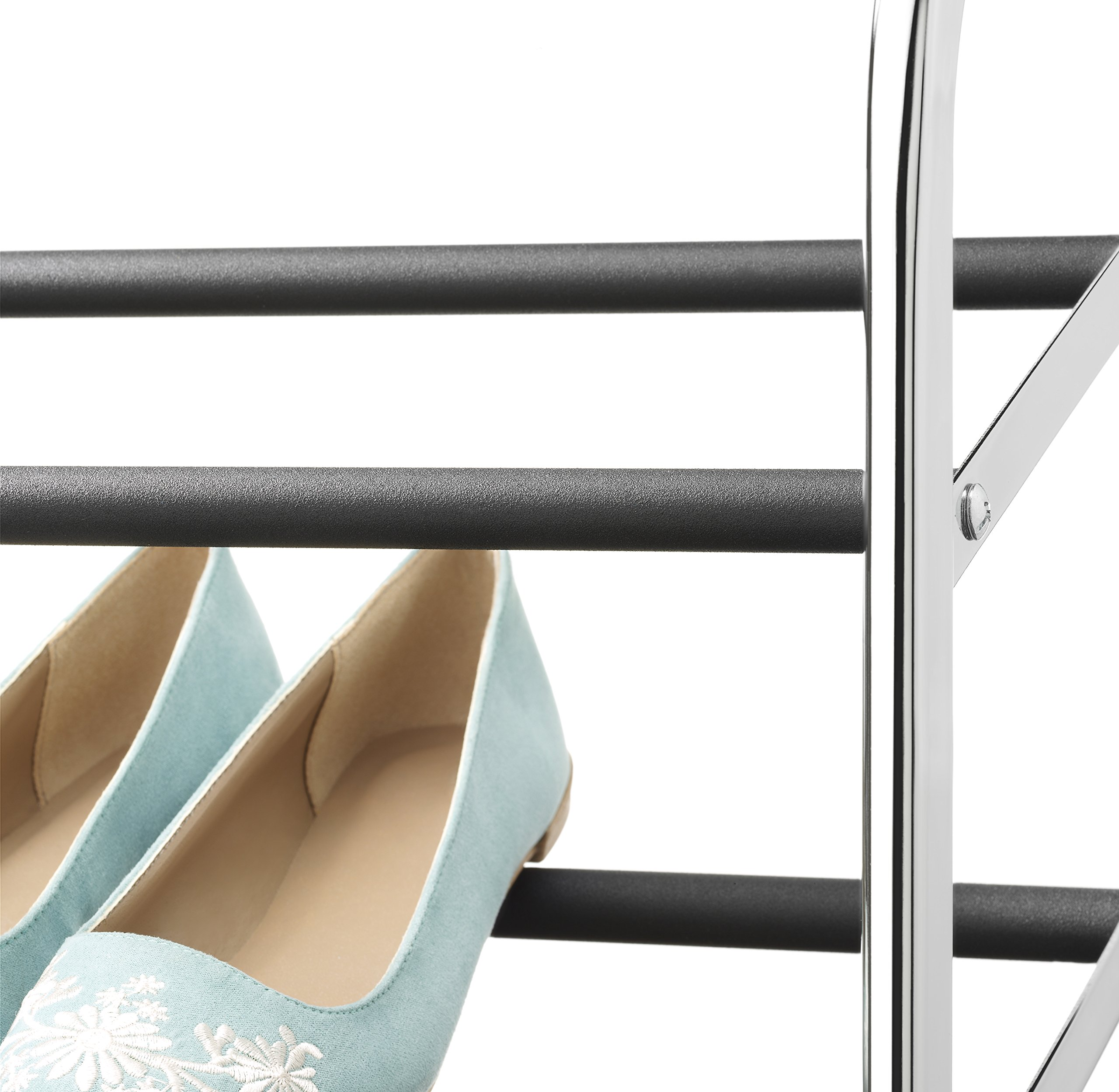 Whitmor 10 Tier Shoe Tower - 50 Pair - Rolling Shoe Rack with Locking Wheels - Chrome by Whitmor (Image #4)