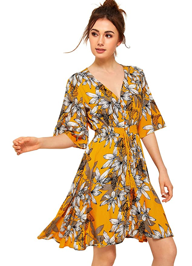 AMAZON'S TOP SELLING WOMEN'S FLORAL DRESS! (MORE COLORS AVAILABLE!)