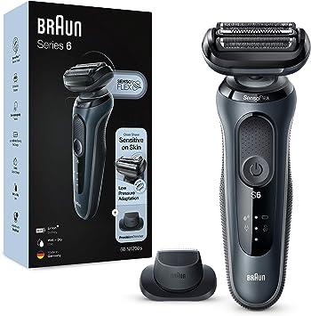 Braun Series 6 60 N1200s Afeitadora Eléctrica Máquina De Afeitar Barba Hombre De Lámina Con Recortadora De Precisión Uso En Seco Y Mojado Recargable Inalámbrica Gris Amazon Es Salud Y Cuidado Personal