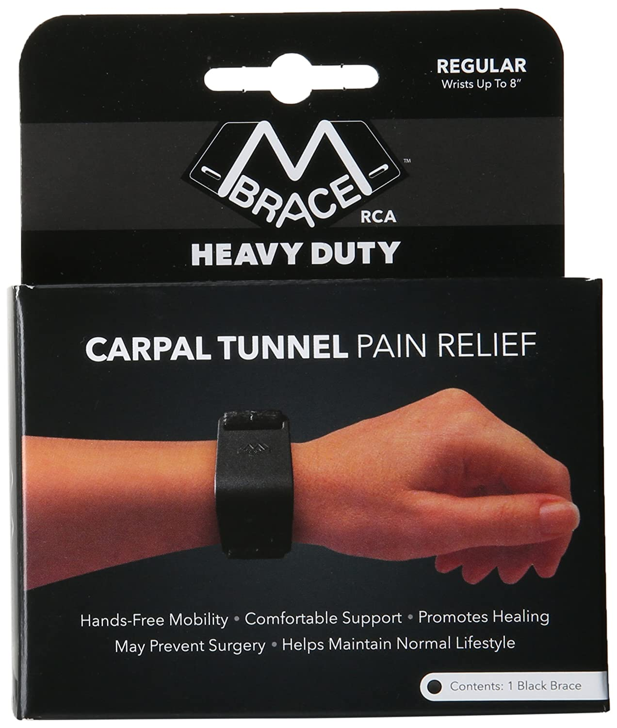 Motorcycle gloves carpal tunnel syndrome - Amazon Com M Brace Rca Heavy Duty Carpal Tunnel Treatment Wrist Support Regular Black Health Personal Care