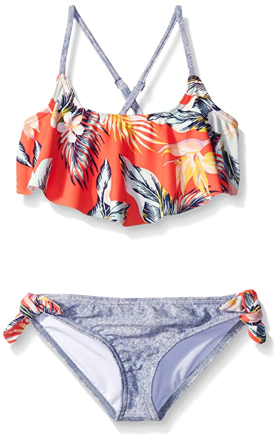 c8c2c97fdd Billabong Big Girls Aloha Yo Flounce Two Piece Swim Suit, Multi, 14:  Amazon.in: Clothing & Accessories