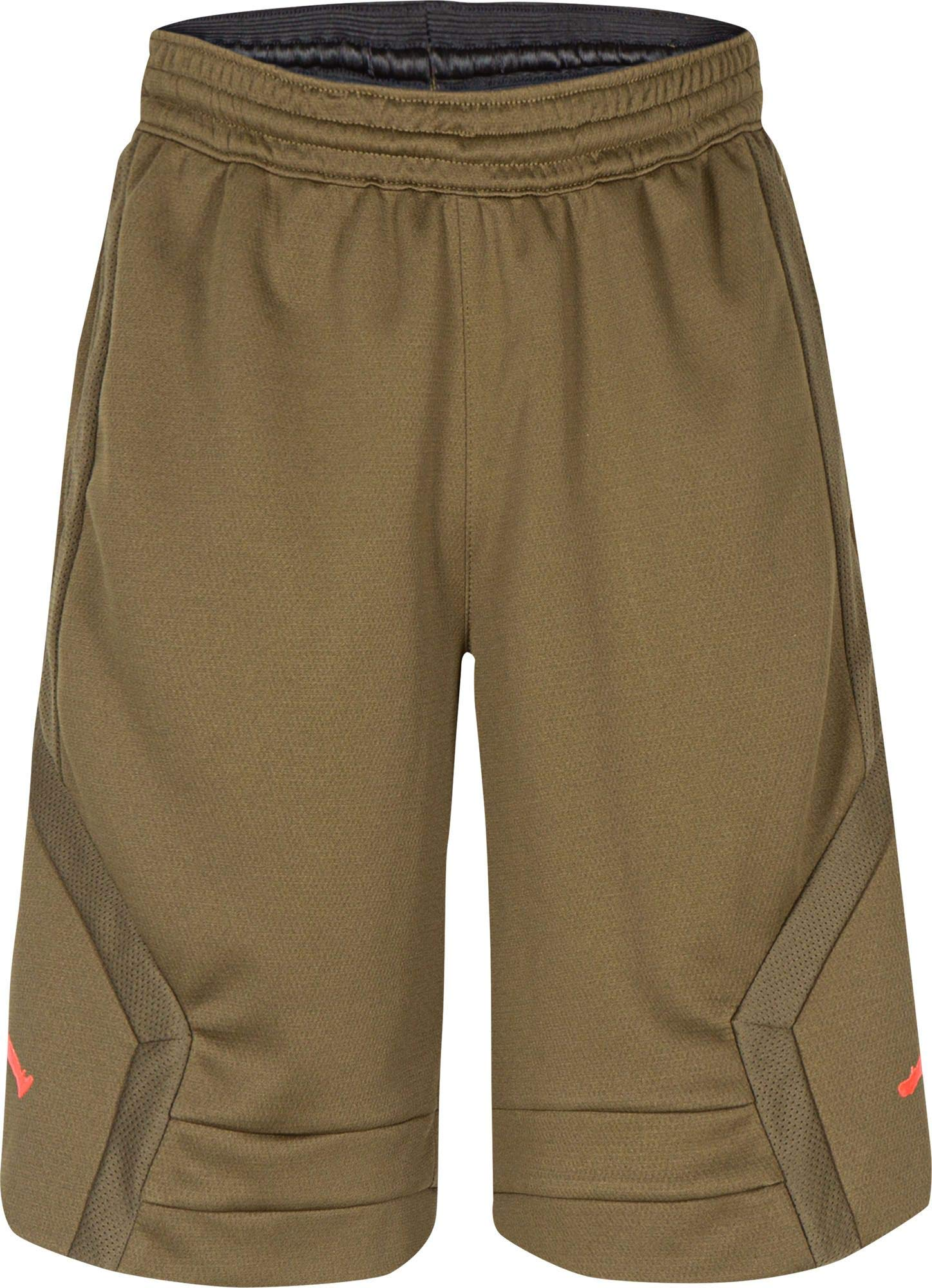 Jordan Boys' Dry Rise Shorts (S, Olive Canvas)
