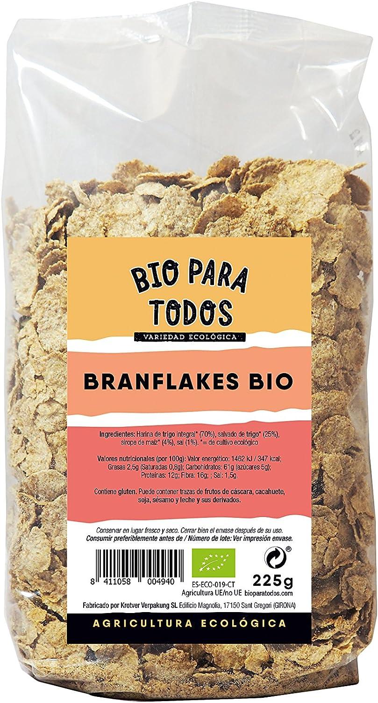 Bio para todos Branflakes Bio - 10 Paquetes de 225 gr - Total: 2250 gr: Amazon.es: Alimentación y bebidas