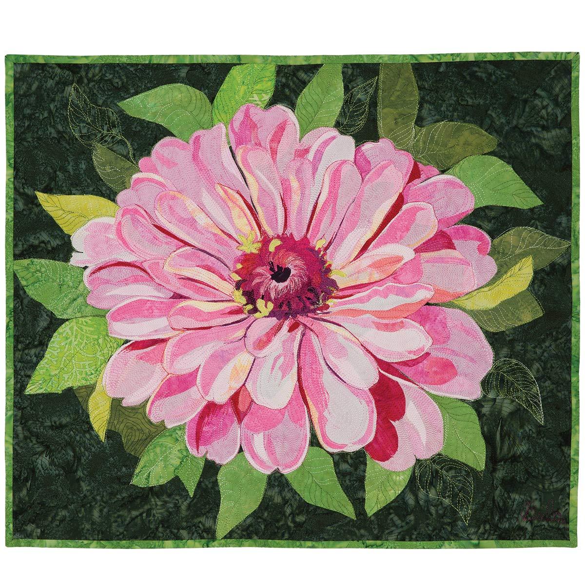 Pink Zinnia Pattern by Melinda Bula