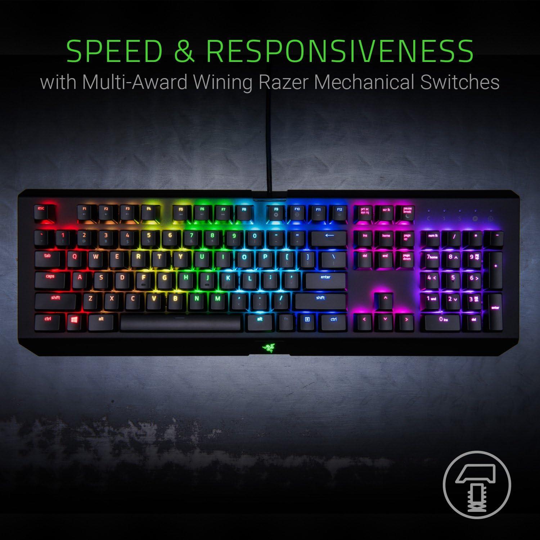 Razer Blackwidow X Chroma - Teclado Gaming, Pensados Para Una Mayor Durabilidad, Estructura Superior De Metal De Uso Militar, Retroiluminación RGB ...