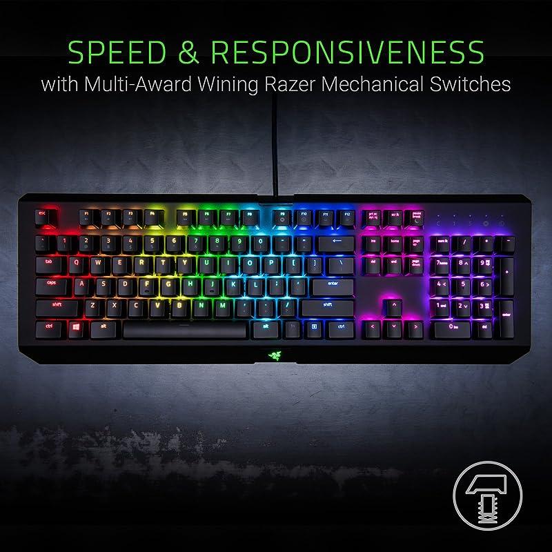 Razer BlackWidow X Chroma, Clicky RGB Mechanical Gaming Keyboard 2